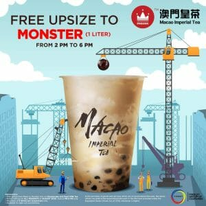Macao Imperial Tea - Free Upsize to 1 Liter