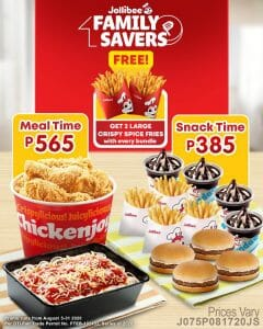 Jollibee - FREE 2 Large Crispy Fries