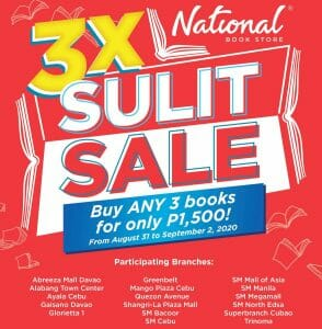 National Books Store - 3X Sulit Sale