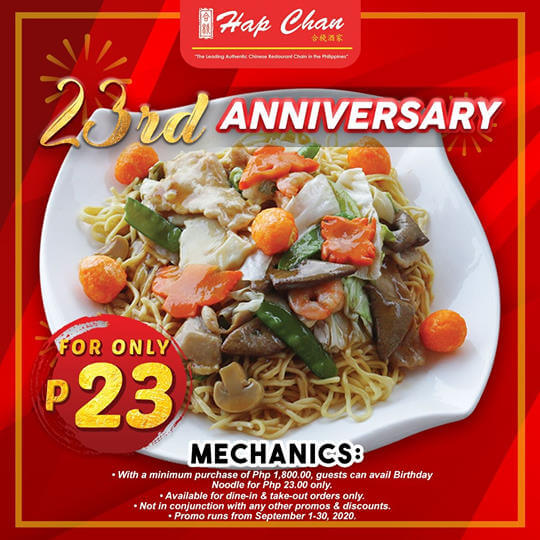 Hap Chan - Birthday Noodle for ₱23