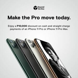 Beyond The Box - Save as Much as ₱10,000 on the Latest iPhone 11 Pro or iPhone 11 Pro Max