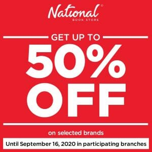 National Book Store - Get Up to 50% Off on All Items from Selected Brands