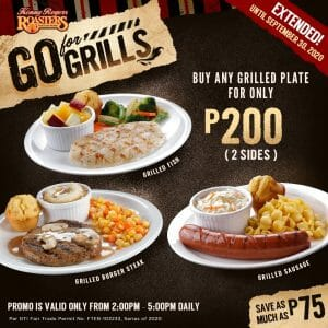 Kenny Roger's - Go For Grills Promo: Any Grilled Plate for only ₱200