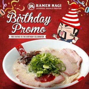 Ramen Nagi - Birthday Promo: FREE Butao to the Birthday Celebrator