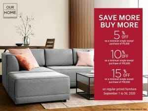 Our Home - Up to 15% Off on Regular Priced Furniture