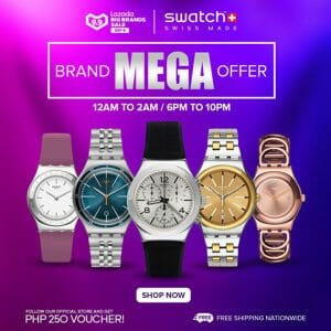Swatch - 9.9. Lazada Big Brands Sale: Get Up to 30% Off Watches