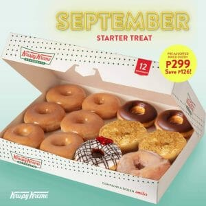 Krispy Kreme - September Starter Treat: 6 Original Glazed and 6 Bestselling Doughnuts for ₱299