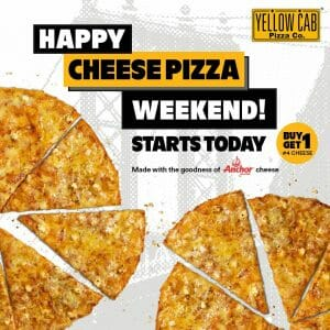 Yellow Cab Pizza - Buy 1, Get 1 #4 Cheese Pizza