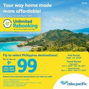 Cebu Pacific - Seat Sale: As Low As ₱99 to Select Philippine Destinations