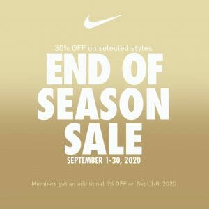 Nike Park Philippines - End of Season Sale: Up to 30% Off Selected Styles
