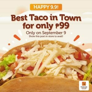Pancake House - 9.9 Sale: Tacos for Only ₱99