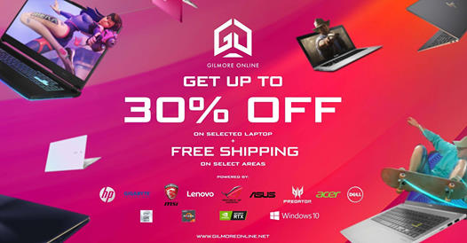 Gilmore Online - Get Up to 30% Off on Selected Laptops + FREE Shipping