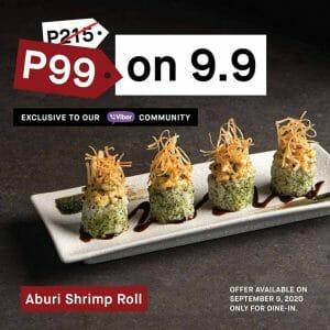Ippudo - 9.9 Sale: Aburi Shrimp Tartar Roll for Only ₱99
