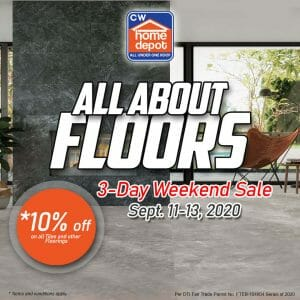 Cw Home Depot - Avail 10% Off on All Tiles and Other Floorings