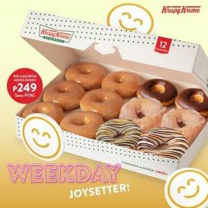 Krispy Kreme - Weekday Joysetter Deal: Pre-assorted Mixed Dozen for ₱249 (Save ₱176)