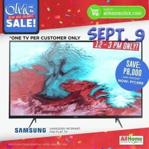 AllHome - 9.9 Sale: Save ₱8,000 When You Buy a Samsung Flat TV