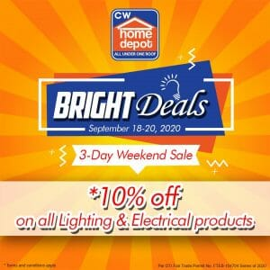 Cw Home Depot - Bright Deals Weekend Sale: At Least 10% Off on Lighting and Other Electrical Products
