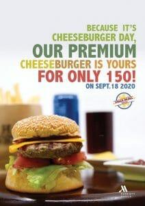 Manila Marriott Hotel - Premium Cheeseburger for ₱150