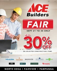 Ace Hardware - Builders Fair: Up to 30% Off on Selected Construction Items
