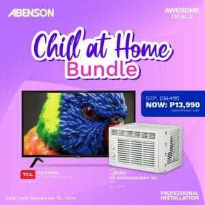 Abenson - Chill at Home Bundle: TV and Aircon Combo for ₱13,990 (Was ₱19,490)