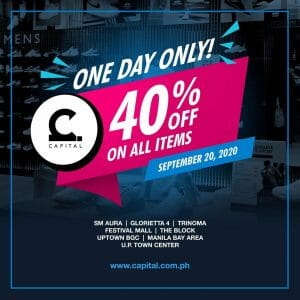 Capital - One Day Only: 40% Off on All Items
