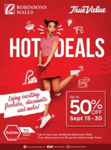 True Value Hardware: Up to 50% Off at Robinsons Mall Branches