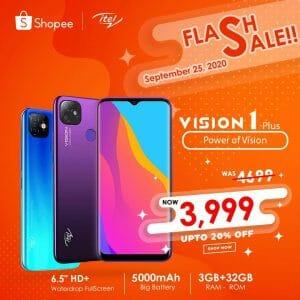 itel Mobile - Flash Sale: itel Vison 1 PLus for ₱3,999
