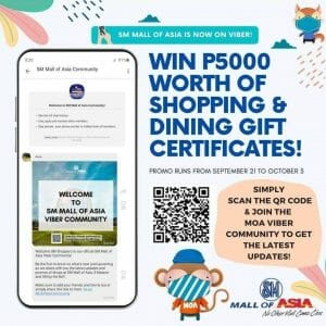 SM Mall of Asia - Win ₱5,000 Worth of Shopping and Dining Gift Certificates