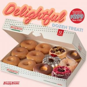 Krispy Kreme - Delightful Dozen Treat for ₱299 (Save ₱126)