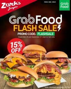 Zark's Burgers - Flash Sale: Get 15% Off on Your Order via GrabFood