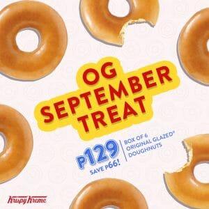 Krispy Kreme - OG September Treat: Box of 6 Original Glazed Doughnuts for ₱129 (Save ₱66)