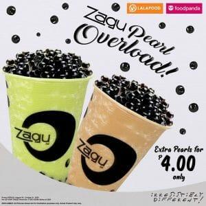 Zagu - Tapioca Pearl Overload for ₱4 for Every Order of Zagu Pearl Shake