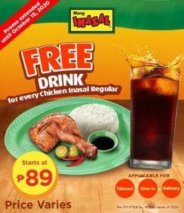 Mang Inasal - FREE Drink for Every Chicken Inasal Regular