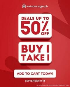 Watsons - 9.9 Shopping Day: Get Up to 50% Off on Heath and Beauty Items
