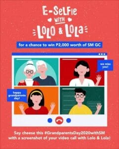 E-Selfie with Lolo and Lola and Win ₱2,000 Worth of SM GCs