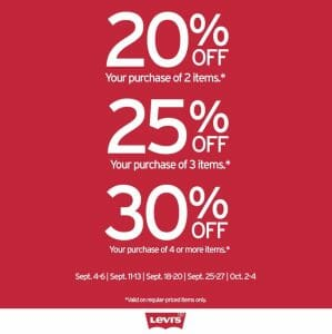 Levi's - Weekend Hot Deals: Get Up to 30% Off When You Purchase Online