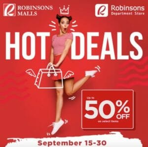 Robinsons Mall - Department Store Hote Deals: Up to 50% Off on Select Items