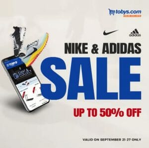 Toby's Sports - Nike and Adidas Sale: Up to 50% Off