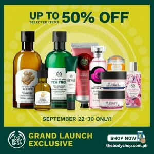 The Body Shop - Online Grand Launch: Up to 50% Off Selected Items
