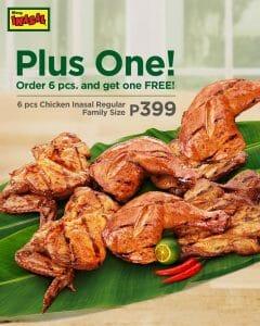 Mang Inasal - Order 6 pcs. Chicken Inasal Regular and Get 1 FREE