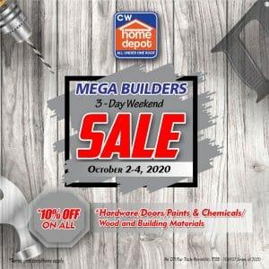Cw Home Depot - Mega Builders Weekend Sale: Get 10% Discount on Building Materials