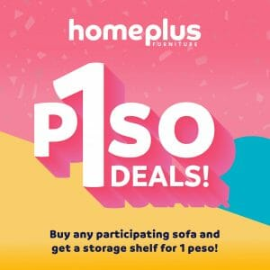 Homeplus Furniture - Piso Deals: Buy Any Selected Sofa and Get a Storage Shelf for ₱1