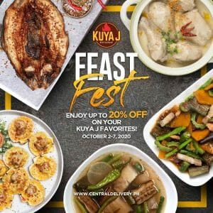 Kuya J Restaurant - Feast Fest: Get Up to 20% Off on Your Kuya J Favorites