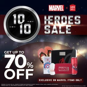 Miniso - 10.10 Sale: Get Up to 70% Off on Marvel X Miniso Items