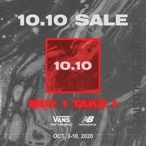 The Playground Premium Outlet - 10.10 Sale: Buy 1, Take 1 on Everything New Balance and Vans