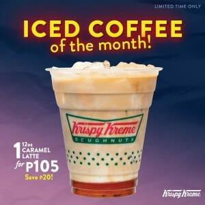 Krispy Kreme - Signature Caramel Iced Coffee for ₱105 (Save ₱20)
