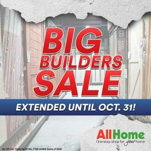 AllHome - EXTENDED Big Builders Sale: Up to 60% Off on Selected Construction Supplies and Materials