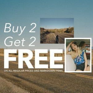 American Eagle Outfitters - Buy 2, Get 2 FREE on All Items