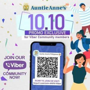 Auntie Anne's - 10.10 Deal: Special Pretzel Promo Exclusive to Viber Community Members