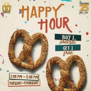 Auntie Anne's - Happy Hour: Buy 1 Pretzel, Get 1 FREE